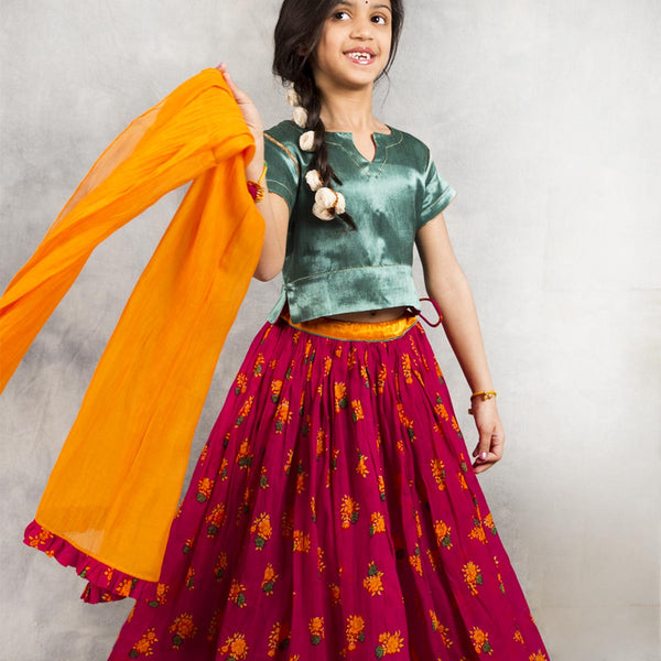 Top & Lehnga Set for Tween Girls