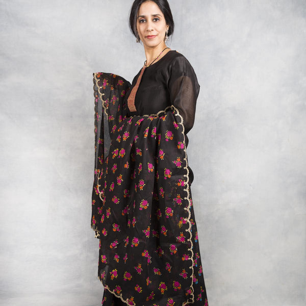 Flower Bed Cotton Print Dupatta