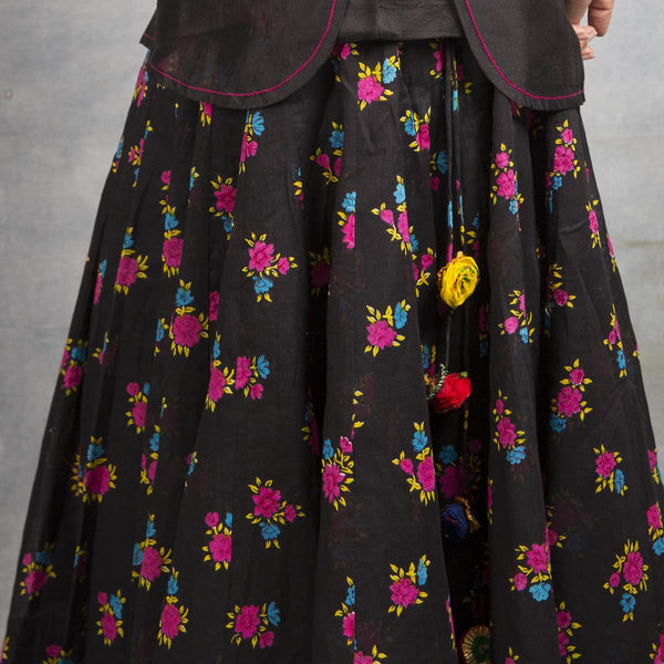 Bed of Roses Cheent Print Lehnga