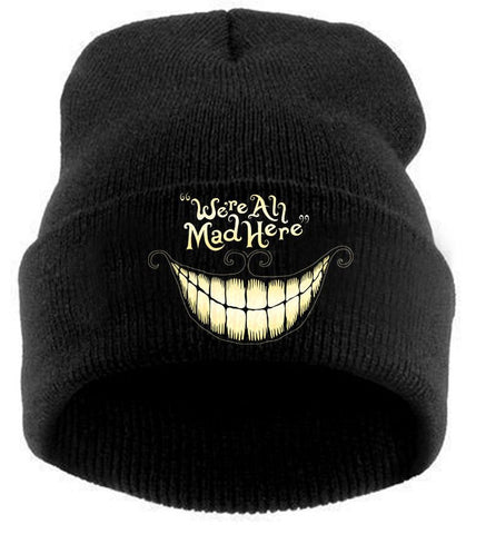 ALICE IN WONDERLAND- WE'RE ALL MAD HERE - CHESHIRE BEANIE - MOLEBALL.COM