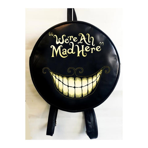 Alice In Wonderland - Were All Mad Here Round Backpack Bag