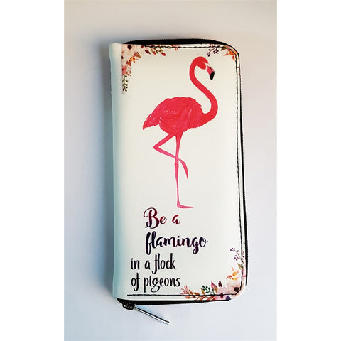 Be A Flamingo In A Flock Of Pigeons Clutch - Wallet - Purse - Bag