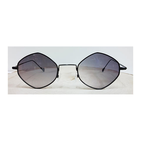 Black Frame Black Glass Square Colored Glasses