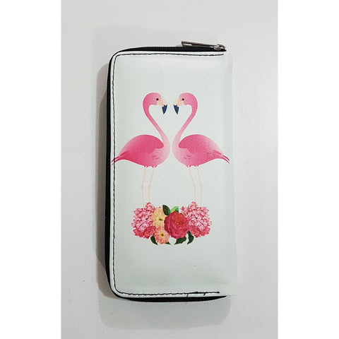 Flamingo And Flowers Clutch - Wallet - Purse - Bag