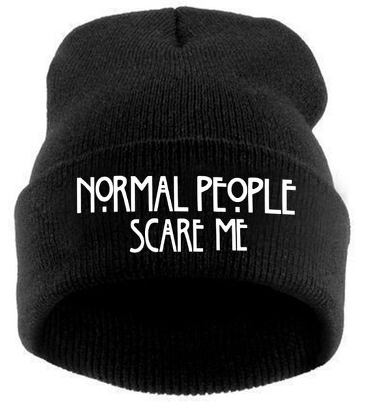 NORMAL PEOPLE SCARE ME BEANIE - HAT - MOLEBALL – moleball d1c1357f1db8