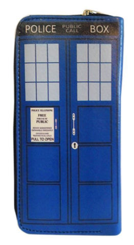 doctor who tardis police box clutch, wallet,purse,moleball