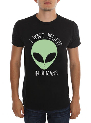 Alien - I don't Believe in Humans Fitted Cotton T-shirt - moleball