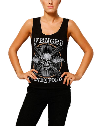 AVENGED SEVENFOLD DEATH BAT GIRLS TANK TOP - moleball