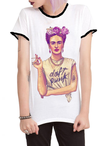 Daft Punk Frida Kahlo Girls T-shirt - moleball
