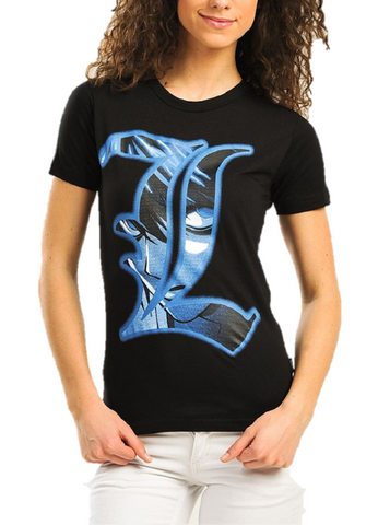 "DEATH NOTE ""L"" ANIME MANGA GIRLS T-SHIRT - moleball"