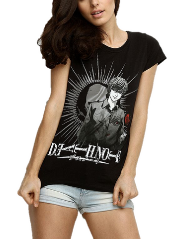DEATH NOTE LIGHT YAGAMI KIRA - ANIME MANGA GIRLS T-SHIRT - moleball