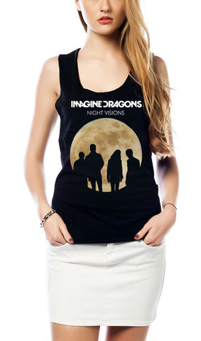 IMAGINE DRAGONS - NIGHT VISIONS GIRLS TANK TOP - moleball