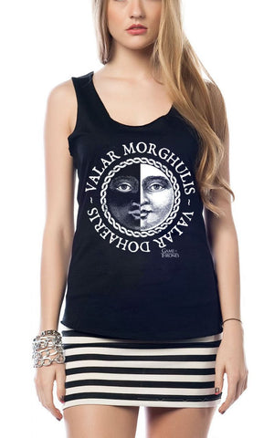 Game of Thrones Valar Morghulis - Dohaeris Tee Girls Tank Top - moleball