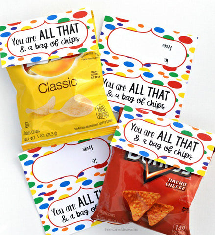 image relating to All That and a Bag of Chips Printable titled Valentine Printables for straightforward Little ones tasks! The