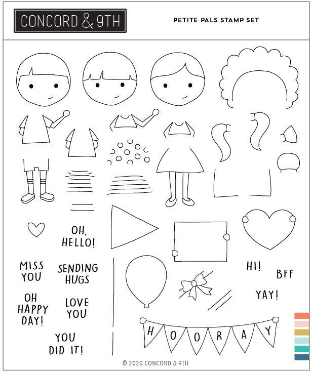 Concord & 9th Petite Pals Stamp Set