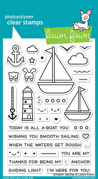 Lawn FAwn Smooth Sailign Stamp