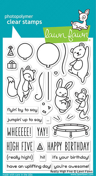 Lawn Fawn, Clear Stamp Really High Five