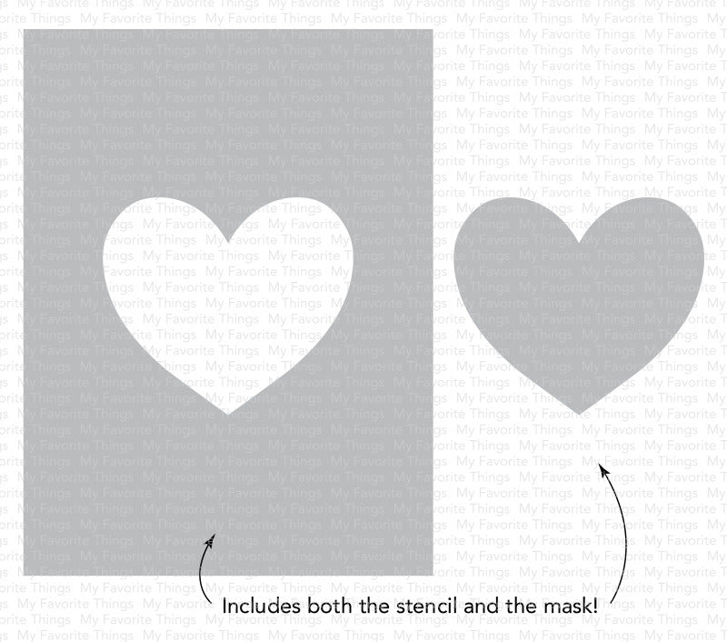 My Favorite Things-Stencils Heart Extraordinaire