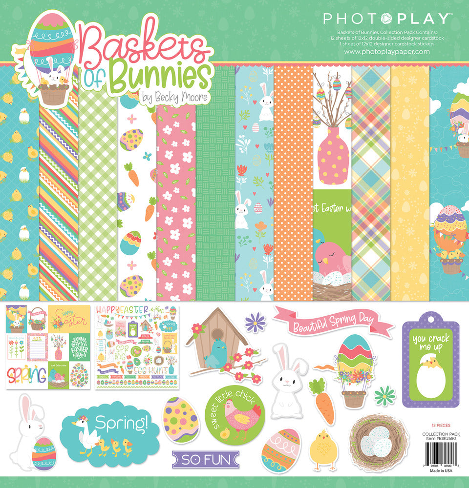 Photoplay Baskets of Bunnies Paper Pack
