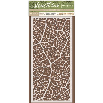 Stamperia Thick Stencil Forest -  Leaf