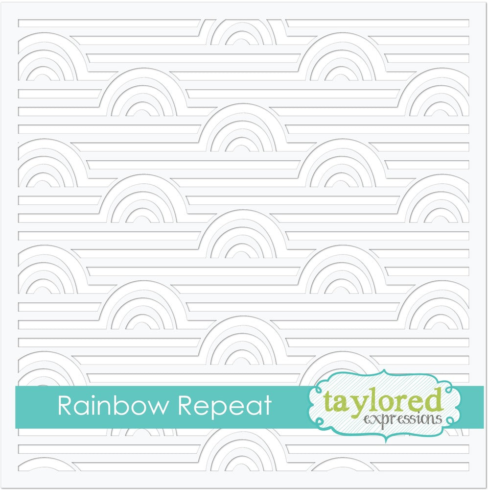 Taylored Expressions, 6x6 Designer Stencils, Rainbow REpeat