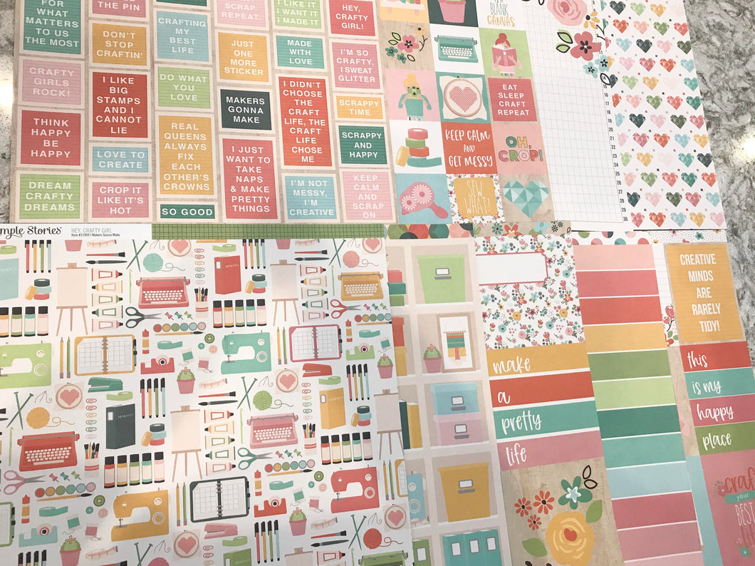 Crafty Girl Paper Packs-9 sheets