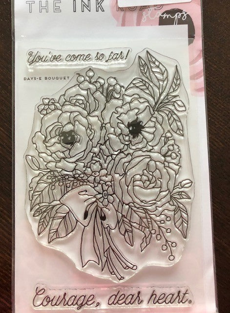 Ink Road Days-E bouquet STamp SEt