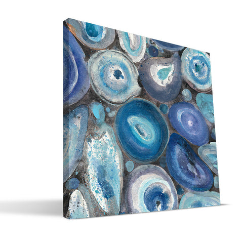 Small Mix Agate 24x24 Canvas Print