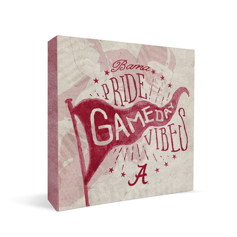 Alabama Crimson Tide Gameday Vibes Square Shelf Block