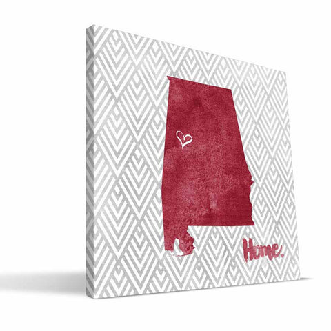 Alabama Crimson Tide Home Canvas Print