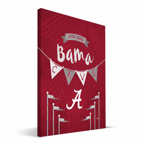 Alabama Crimson Tide Little Man Canvas Print