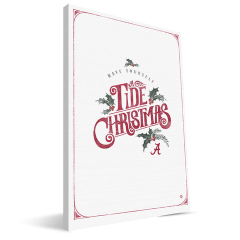 Alabama Crimson Tide Merry Little Christmas Canvas Print