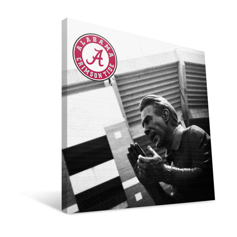 Alabama Crimson Tide Nick Saban Statue Canvas Print