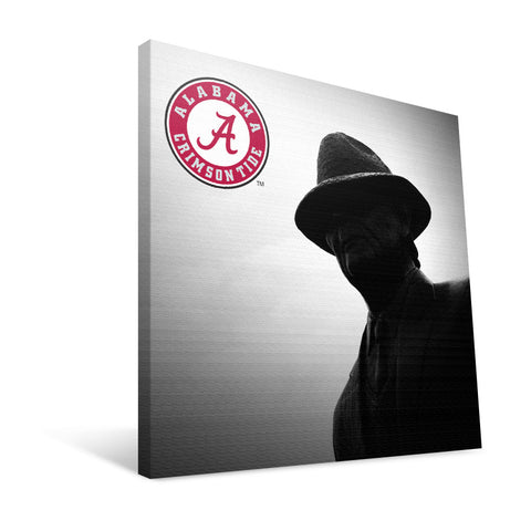 "Alabama Crimson Tide Paul ""Bear"" Bryant Statue Canvas Print"