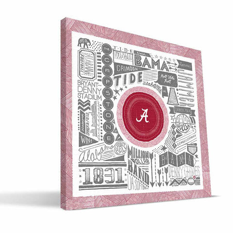 Alabama Crimson Tide Pictograph Canvas Print