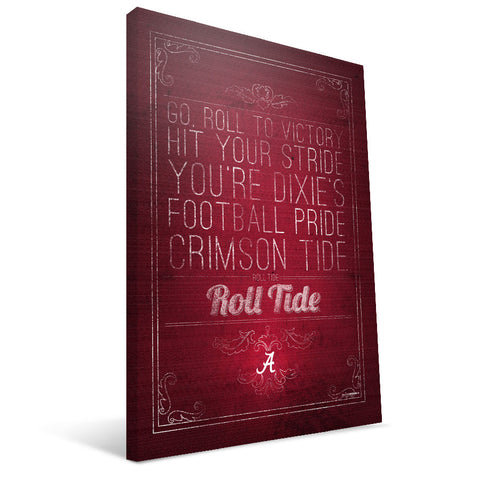 Alabama Crimson Tide Song Canvas Print