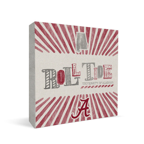 Alabama Crimson Tide State Square Shelf Block