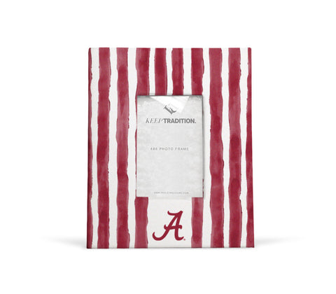 Alabama Crimson Tide School Stripes Picture Frame