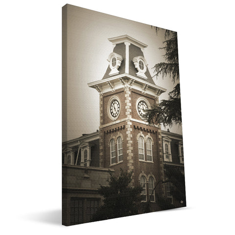 Arkansas Razorbacks Old Main Clock Canvas Print