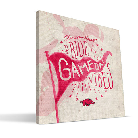 Arkansas Razorbacks Gameday Vibes Canvas Print