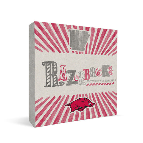 Arkansas Razorbacks State Square Shelf Block