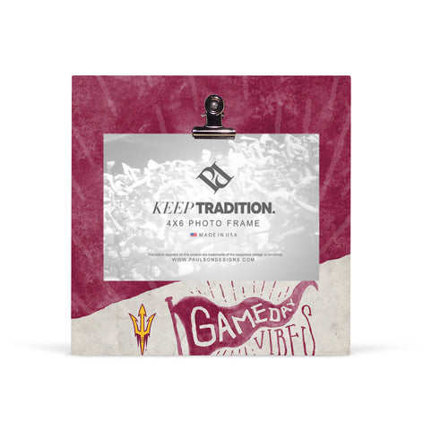 Arizona State Sun Devils Gameday Vibes Picture Frame with Clip