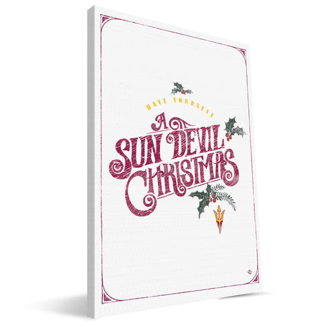 Arizona State Sun Devils Merry Little Christmas Canvas Print
