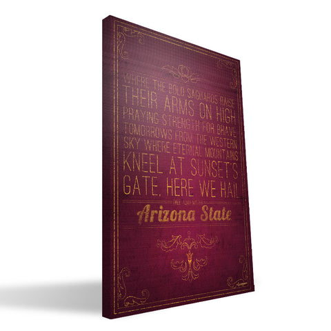 Arizona State Sun Devils Song Canvas Print