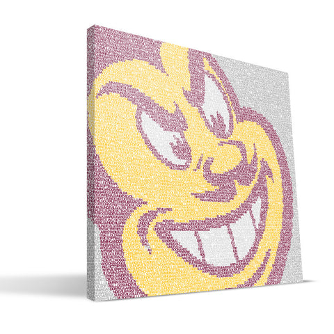 Arizona State Sun Devils Typo Canvas Print