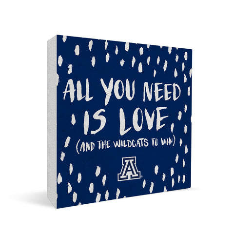 Arizona Wildcats All You Need Square Shelf Block