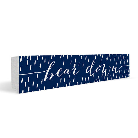 Arizona Wildcats Rally Cry Brush Mark Rectangular Shelf Block