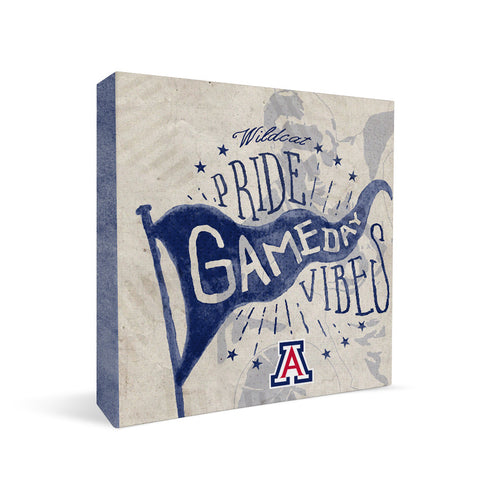 Arizona Wildcats Gameday Vibes Square Shelf Block