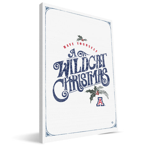 Arizona Wildcats Merry Little Christmas Canvas Print