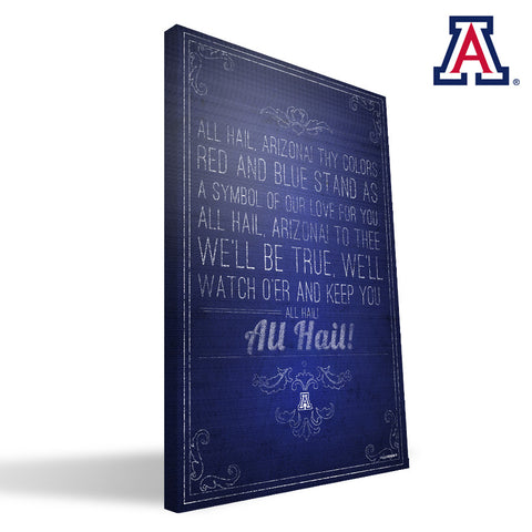 Arizona Wildcats Song Canvas Print